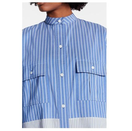Louis Vuitton Shirts & Blouses 2019-20AW STRIPE OVERSIZED SHIRT blue 34-40 shirt 7