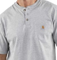 Carhartt Henry Neck Street Style Short Sleeves Logo Henley T-Shirts