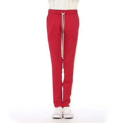 Bi-color Plain Street Style Joggers & Sweatpants