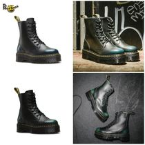 Dr Martens Rubber Sole Lace-up Casual Style Blended Fabrics