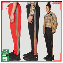 Burberry Tapered Pants Unisex Street Style Plain Tapered Pants