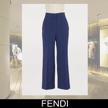 FENDI Silk Plain Cropped & Capris Pants