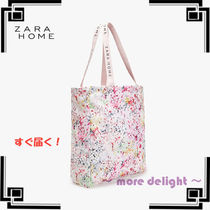 ZARA HOME Flower Patterns A4 Totes