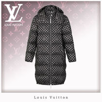 Louis Vuitton Other Check Patterns Unisex Blended Fabrics Long Jackets
