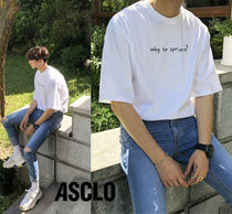 ASCLO Cotton Short Sleeves Oversized T-Shirts