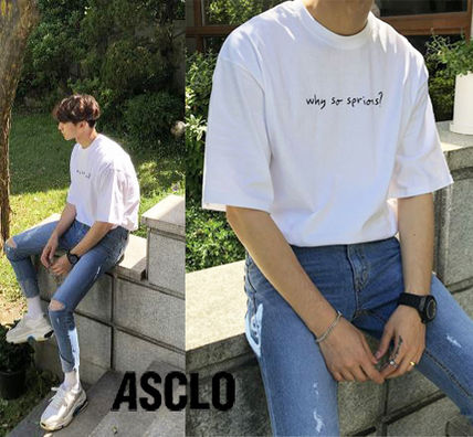 ASCLO More T-Shirts Cotton Short Sleeves Oversized T-Shirts