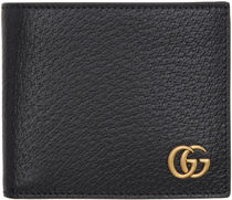 GUCCI Unisex Street Style Leather Folding Wallets