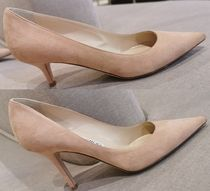 Jimmy Choo Plain Toe Suede Plain Pin Heels Elegant Style