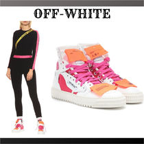 Off-White Platform Lace-up Street Style Plain