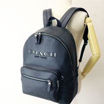Coach Unisex Leather Backpacks