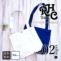Ron Herman Casual Style Unisex A4 Plain Crossbody Totes