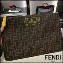 FENDI Monogram Bag in Bag Clutches