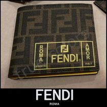 FENDI Monogram Folding Wallets