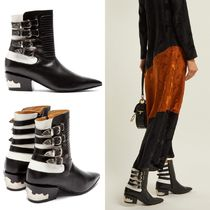 TOGA Plain Leather Elegant Style Ankle & Booties Boots
