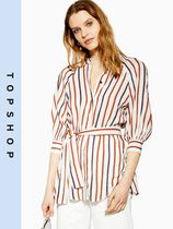 TOPSHOP Stripes Casual Style Shirts & Blouses