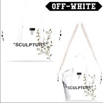 Off-White Casual Style 2WAY Leather Totes