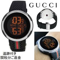 GUCCI Blended Fabrics Quartz Watches Digital Watches