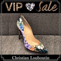 Christian Louboutin Pigalle Follies Blended Fabrics Leather Pin Heels Handmade Elegant Style