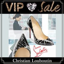 Christian Louboutin Pigalle Follies Leather Pin Heels Handmade Elegant Style