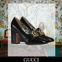 GUCCI Flower Patterns Leather Elegant Style