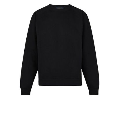 Louis Vuitton Sweatshirts Blended Fabrics Long Sleeves Plain Cotton Sweatshirts
