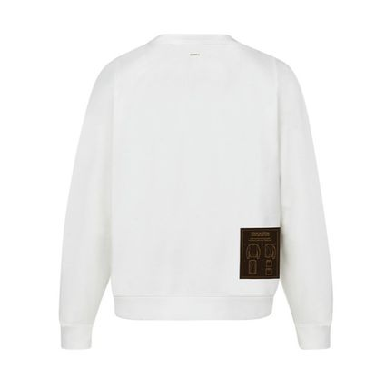 Louis Vuitton Sweatshirts Blended Fabrics Long Sleeves Plain Cotton Sweatshirts 9