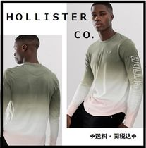 Hollister Co. Crew Neck Tie-dye Long Sleeves Cotton Logos on the Sleeves
