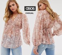 ASOS Casual Style Long Sleeves Other Animal Patterns Lace