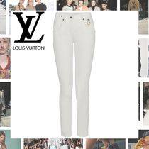 Louis Vuitton Blended Fabrics Plain Cotton Long Skinny Pants