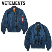 VETEMENTS Short Unisex Street Style MA-1 Oversized Bomber Jackets