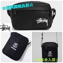 STUSSY Casual Style Unisex Street Style Plain Shoulder Bags