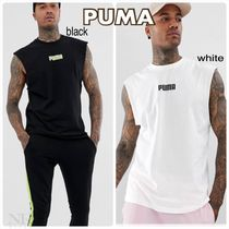 PUMA Street Style Plain Cotton Tanks