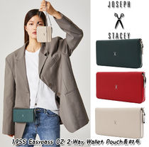 JOSEPH&STACEY Plain Leather Long Wallets