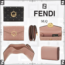 FENDI Dots Leather Folding Wallets