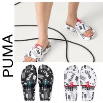 PUMA Casual Style Unisex Street Style Leather Shower Shoes