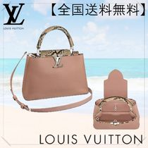 Louis Vuitton CAPUCINES Blended Fabrics 2WAY Python Handbags