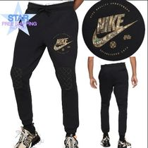 Nike Tapered Pants Unisex Plain Cotton Tapered Pants