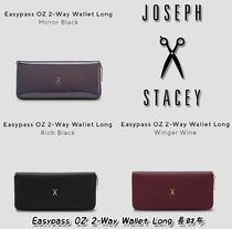 JOSEPH&STACEY Street Style Plain Leather Long Wallets