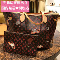Louis Vuitton NEVERFULL Monogram Casual Style Totes