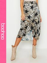 boohoo Star Casual Style Other Animal Patterns Skirts