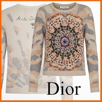 Christian Dior Casual Style Cashmere Long Sleeves Medium Cashmere