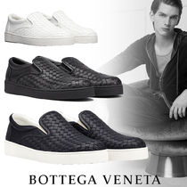 BOTTEGA VENETA Plain Leather Loafers & Slip-ons