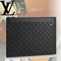 Louis Vuitton DAMIER INFINI 2WAY Leather Clutches