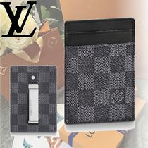 Louis Vuitton DAMIER GRAPHITE Leather Card Holders