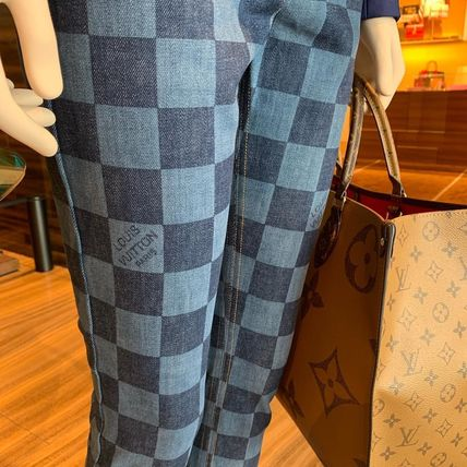 Louis Vuitton Skinny Other Check Patterns Blended Fabrics Bi-color Cotton Long