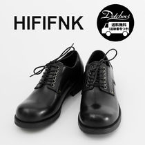 HI FI FNK Loafers Unisex Street Style Plain Leather Loafers & Slip-ons