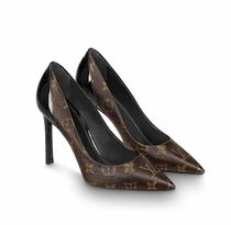 Louis Vuitton Monogram Blended Fabrics Leather Pin Heels