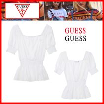 Guess Casual Style Street Style Cotton Shirts & Blouses