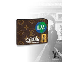 Louis Vuitton Monogram Leather Folding Wallets
