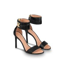 Louis Vuitton Street Style Plain Leather Block Heels Heeled Sandals